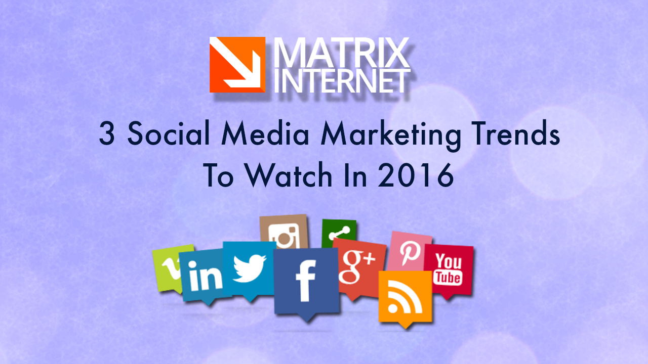 Three Social Media Marketing Trends To Watch In 2016